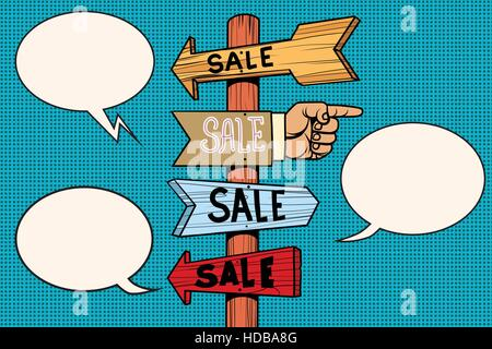 Pointers arrow sale signs navigation - Stock Photo