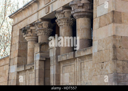 Temple of Debod. Parque del Oeste, Madrid Spain - Stock Photo