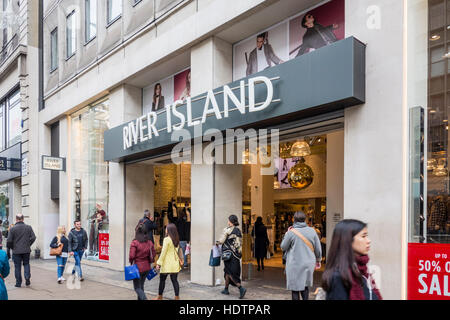River Island store, Oxford Street, London, UK - Stock Photo