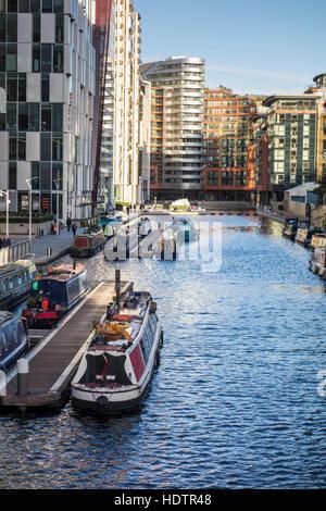 Buildings around Paddington Basin redevelopment. London, UK - Stock Photo