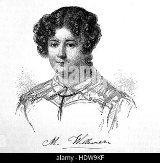Marianne von Willemer, 1784-1860, probably born as Marianne Pirngruber, also known as Marianne Jung, an Austrian - Stock Photo