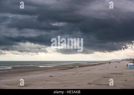 Beach at Malo-les-Bains, Dunkirk, France. - Stock Photo