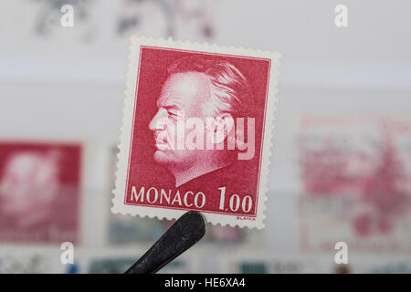 An old  Monaco   postage stamp. - Stock Photo