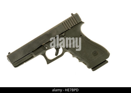Winneconne, WI - 6 December 2016:  Glock 21 handgun in 45 caliber on an isolated background. - Stock Photo