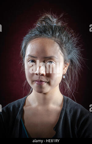 young asian american woman student - Stock Photo