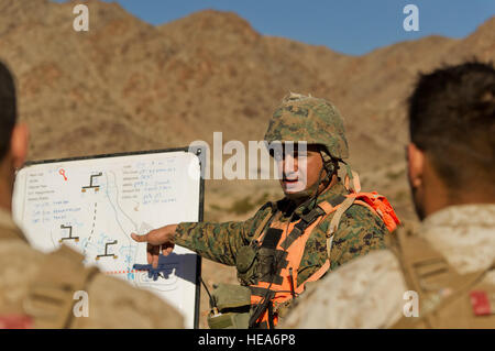 U.S. Marine Corps Gunnery Sgt. Jose Trejo, infantry unit leader, Tactical Training Exercise Control Group, Marine - Stock Photo