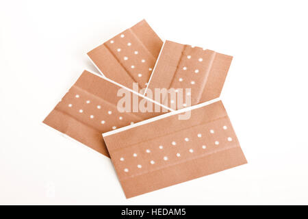 Plasters or adhesive bandages, strips - Stock Photo