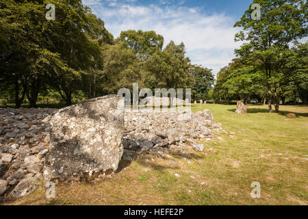 Neolithic Burial tombs at Clava Cairns in Scotland. - Stock Photo