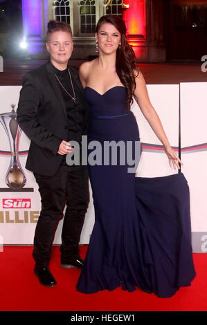 Dec 14, 2016  - Saara Aalto and Meri Sopanen attending Sun Military Awards 2016 at The Guildhall in London, England, - Stock Photo