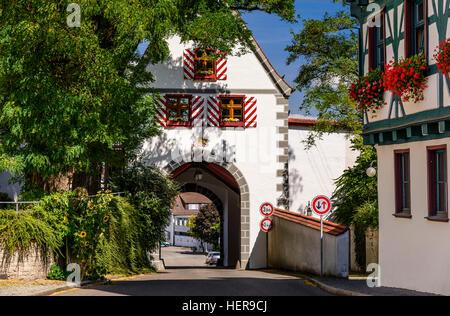 Germany, Baden-Wurttemberg, Swabian Alb, Upper Danube, Riedlingen, city gate - Stock Photo