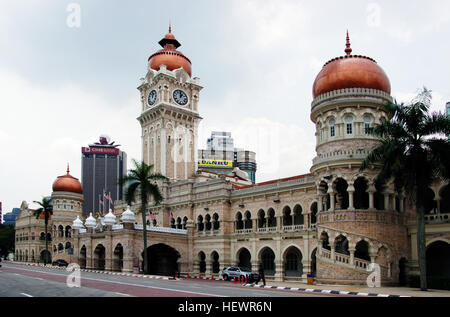 The Sultan Abdul Samad Building is among Kuala Lumpur's earliest Moorish-style buildings. It is set to the east - Stock Photo