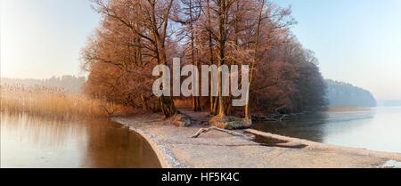 Panorama Ukiel lake in Olsztyn, Poland, Europe. - Stock Photo