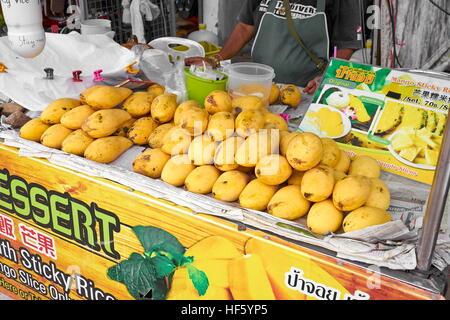 Mango on street shop, Ko Lanta Island, Thailand - Stock Photo