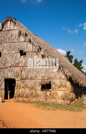 Tobacco drying shed in Vinales, Cuba - Stock Photo