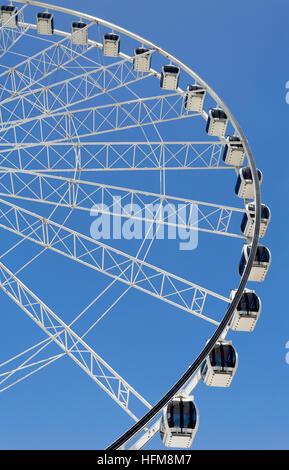The Wheel of Brisbane is an almost 60 metres tall ferris wheel installed in Brisbane, Australia. - Stock Photo