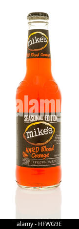 Winneconne, WI - 21 December 2016: Bottle of Mike's hard blood orange on an isolated background. - Stock Photo