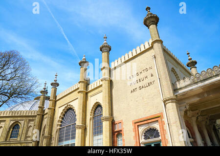 Brighton Museum and Art Gallery in the Royal Pavilion Gardens, Brighton, East Sussex, UK - Stock Photo