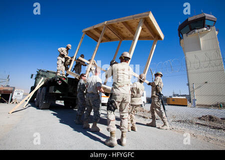 101115-N-6383T-4731 KANDAHAR, Afghanistan (Nov. 15, 2010) Seabees assigned to Naval Mobile Construction Battalion - Stock Photo