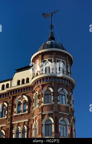 Art Nouveau architecture Promenade Pohjoisranta North quay Helsinki Finland - Stock Photo