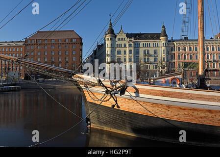 North quay Helsinki Finland - Stock Photo