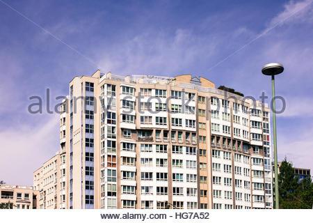 Apartment Block in Berlin, Germany, multi family housing Urban residential high density housing germany, - Stock Photo