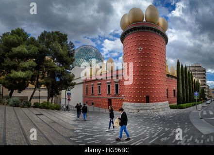 Dali Museum, Figueres, Girona province, Catalonia, Spain - Stock Photo