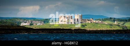 Bamburgh Castle, Northumberland, UK - Stock Photo