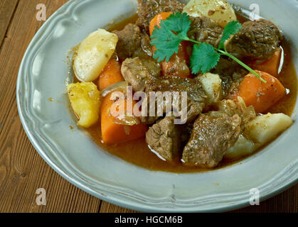 Boeuf a la mode -  French version of what is known in the United States as pot roast,braised beef dish, - Stock Photo