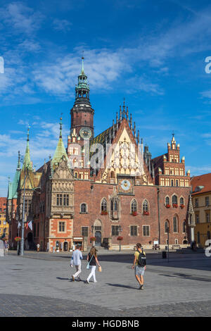 Market Square in Wroclaw City - Stock Photo
