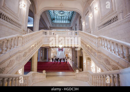 Romania, Bucharest City, Parliament building, interior - Stock Photo