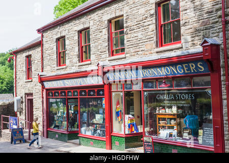 Wales, Cardiff, St Fagan's, Museum of Welsh Life, Gwalia Supply Store - Stock Photo