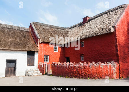 Wales, Cardiff, St Fagan's, Museum of Welsh Life, Historic Village House - Stock Photo