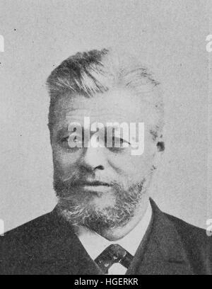 Franz Stumpf, born 1840, german businessman, industrial developer, reproduction of a photo from the year 1895, digital - Stock Photo