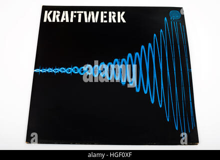 Kraftwerk double LP record - Stock Photo