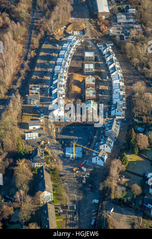 Aerial view, construction area Mark'scher Arch, Urban Planning, at the Holtbrügge, Springorum bike path, Bochum, - Stock Photo