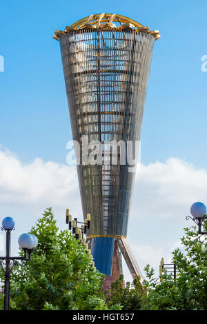 Altyn Shanyrak monument, Independence Park, Shymkent, South Region, Kazakhstan, Central Asia - Stock Photo
