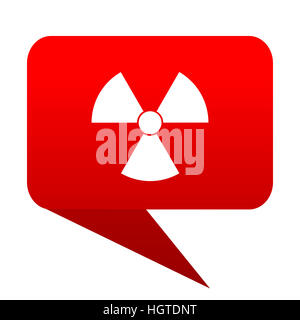 radiation bubble red icon - Stock Photo