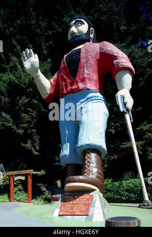 Paul Bunyan Statue, Klamath, California, USA - Stock Photo