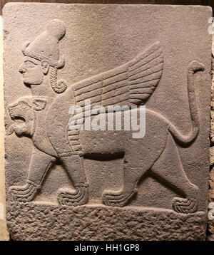 Orthostats of Heralds Wall in Museum of Anatolian Civilizations, Ankara, Turkey - Stock Photo