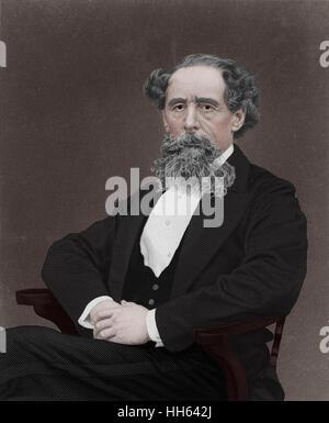Charles Dickens (1812-1870) - English writer. - Stock Photo