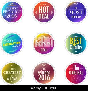 Set of promotion and maketting label. Badge design. vector stock. - Stock Photo