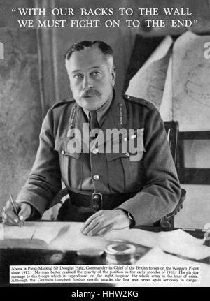 Field Marshal Douglas Haig (19 June 1861 – 29 January 1928), the 'Butcher of the Somme', Commander in Chief of the - Stock Photo