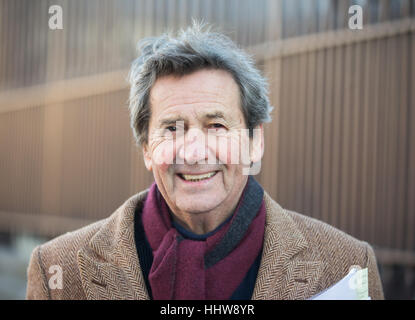 Writer, broadcaster and Journalist, Melvyn Bragg, outside parliament - Stock Photo