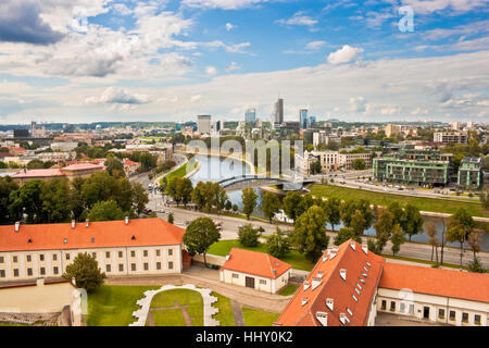 Panoramic view of Vilnius in summer - Stock Photo