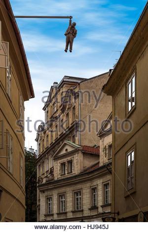 Man Hanging Out - Prague - Stock Photo