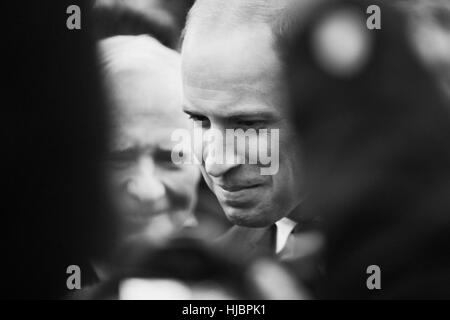 Prince William engaging with people in crowd. Victoria, BC. Canada - Stock Photo
