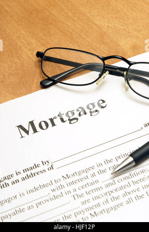 bank, lending institution, house, building, application, write, wrote, writing, - Stock Photo