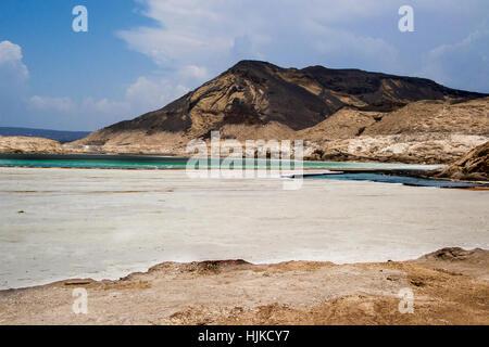 Lac Assal, Djibouti Africa | Salt water lake in Djibouti East Africa - Stock Photo