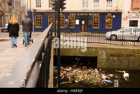 Flotsam in Albert Dock. Port of Leith, Edinburgh, Scotland, United Kingdom, Europe - Stock Photo