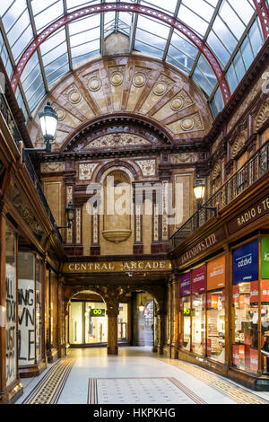 The Central Arcade, Newcastle was built in 1906 & designed by the Newcastle firm of Oswald and Son. - Stock Photo